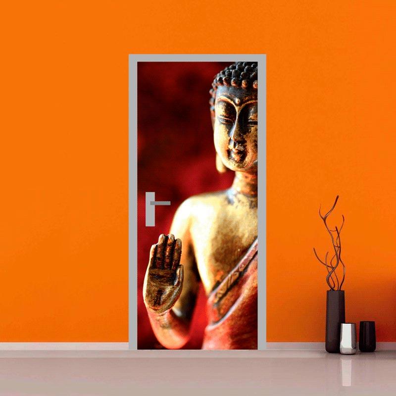 Adesivo personalizzato per porte interne - statua Buddha