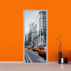 adesivi porte taxi new york sticker arredo
