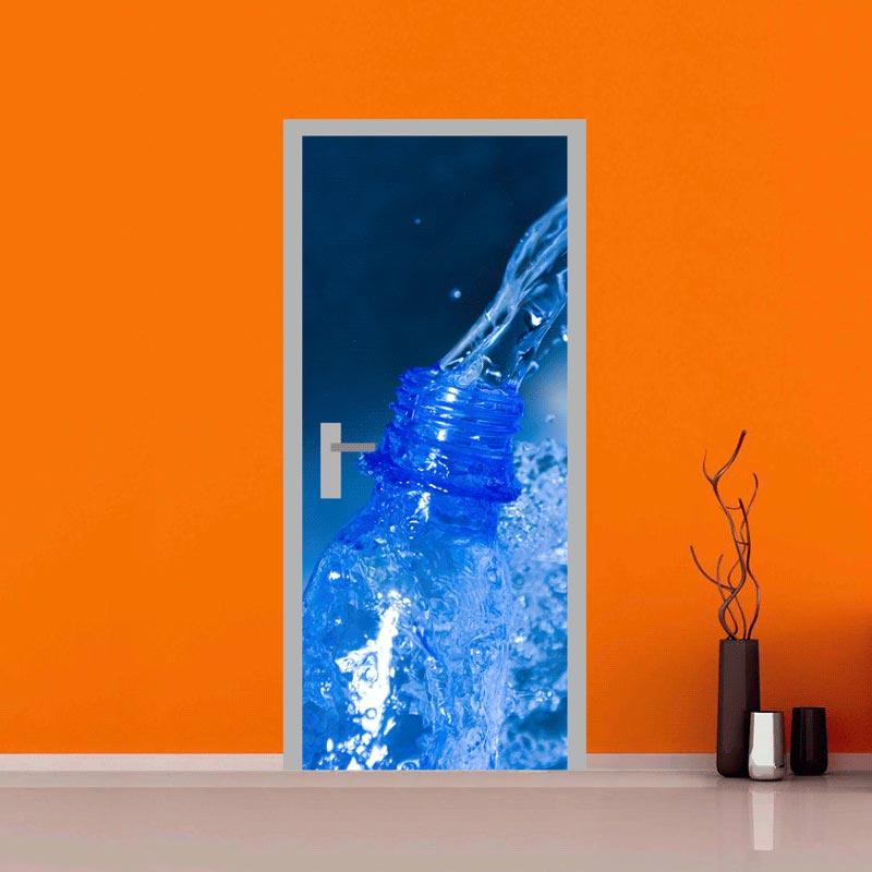 Pellicola adesiva per porte bottiglia di acqua for Tavole adesive 3d