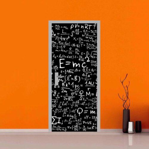 adesivo per porte : astratto einstein