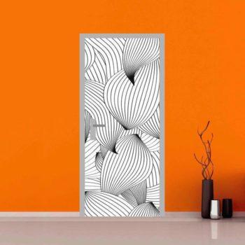 adesivo per porte : fantasia di linee