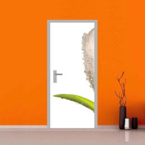 adesivo porta vendita tulipano nascosto arredo sticker casa