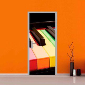 adesivo per porte : pianoforte