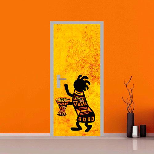 adesivo per porte : ballerino africa