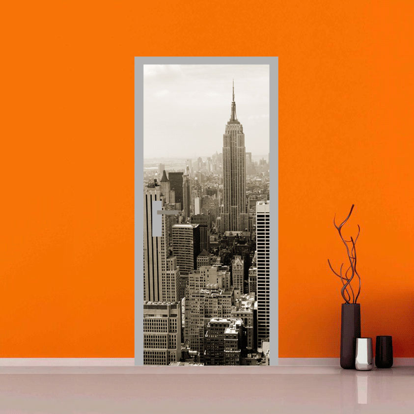 Rivestimento adesivo per porte new york aerea - Adesivi per finestre ...