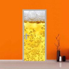 Adesivo per Porte di Bar e Locali dentro un bicchiere di birra