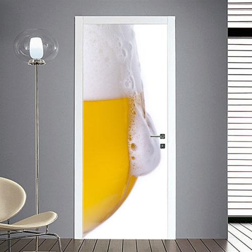 adesivo porta bicchiere birra schiuma sticker