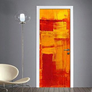 adesivo per porte : astratto rosso