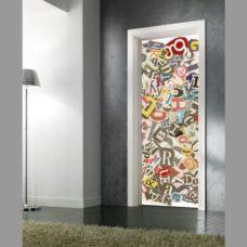 adesivo per porte : street art