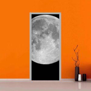 Adesivo per porte : luna piena
