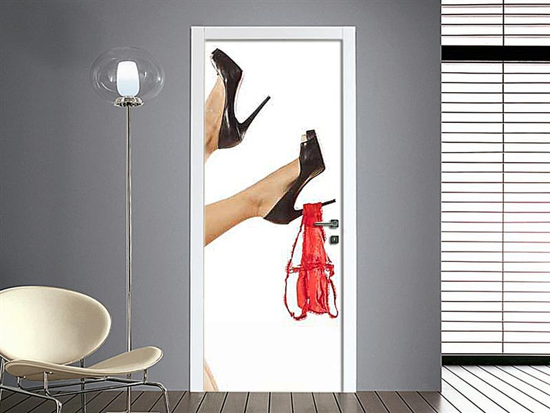Adesivo per porta foto sexy di donne - Porte decorate adesivi ...