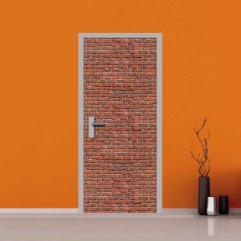 Adesivo muro di mattoni per le porte interne e blindate