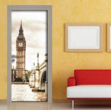 adesivo porta torre Londra sticker seppiato