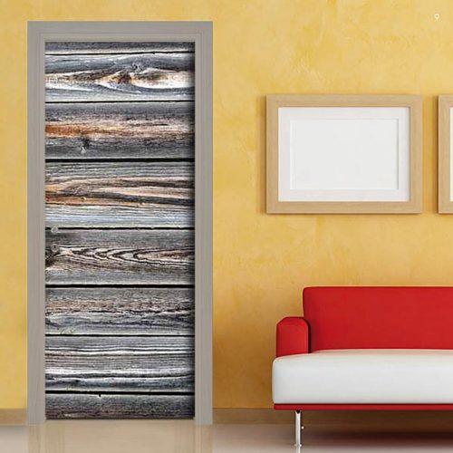 Adesivo per personalizzare la porta con tavole in legno. Ottimo prezzo.