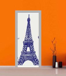 adesivo porta Tour Eiffel stilizzata sticker