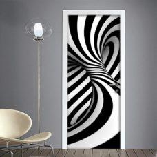 Vortice 3D adesivo per porta