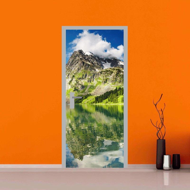 adesivo per porte : alpi svizzere