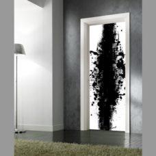 adesivo per porte : bianco e nero