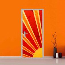 adesivo per porte : astratto sole