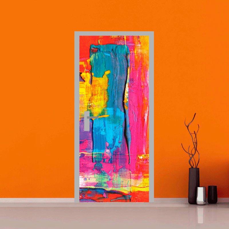 adesivo per porte : astratto colorato