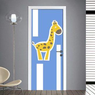 adesivi porte bambini giraffa sticker decorazione