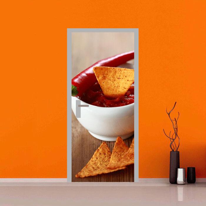 adesivo per porte : tacos e chili