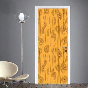 adesivo per porte : trama gialla