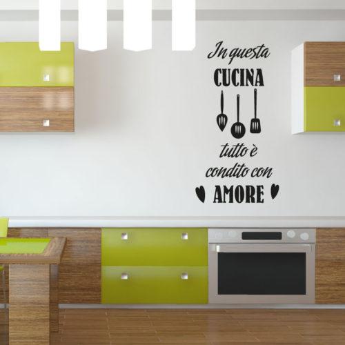 Adesivi murali cucina in questa cucina tutto e condito con amore