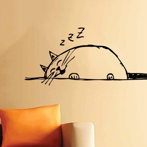 adesivi-murali-gatto-dormiglione-thumb