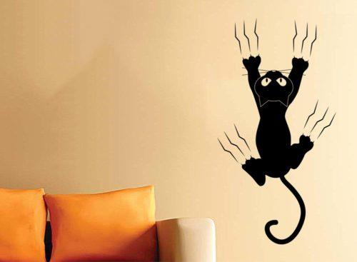 adesivi muro gatti