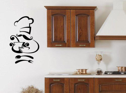 Adesivo per porte righe orizzontali bianco e nero for Adesivi murali cucina