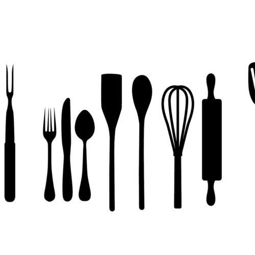 Stickers murali utensili cucina