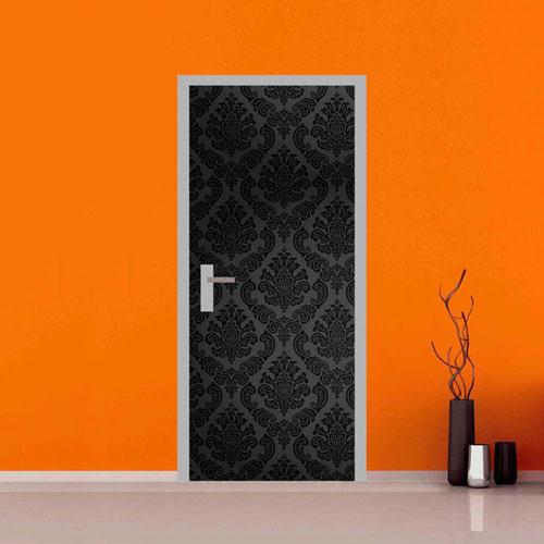 Adesivo per porte effetto damascato su quadriperarredare - Stickers porte interne ...