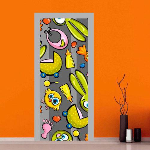 Sticker adesivo per personalizzare le porte delle camerette dei bambini