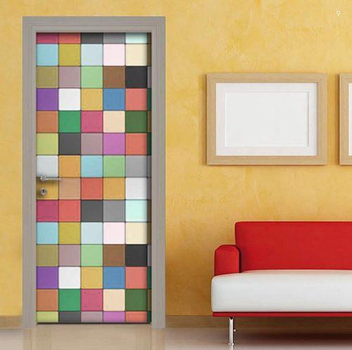 Adesivi per porte di forte effetto design facilmente for Adesivi mattonelle