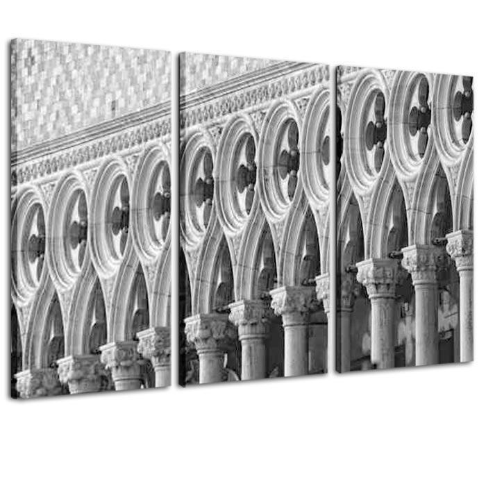 quadro trittico arredo : venezia