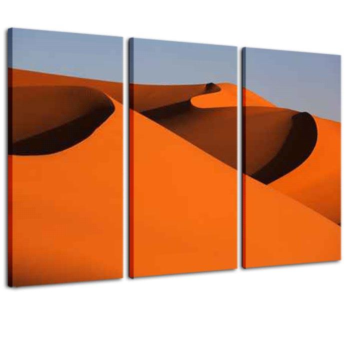 quadro trittico moderno dune deserto giorno