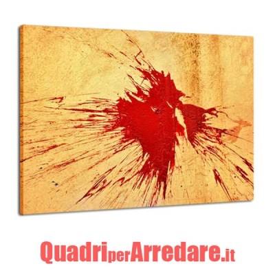 quadro macchia rossa di vernice