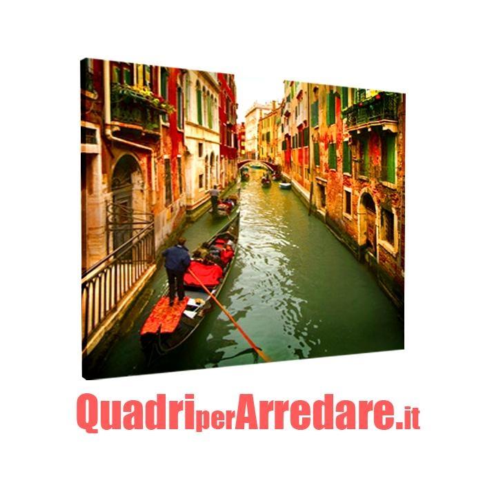 quadro in tela canvas : canale di Venezia