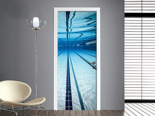 Adesivo per porte plaid in tartan for Adesivi per piscine