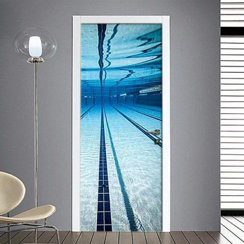 adesivo per porte : piscina