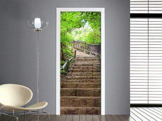 Adesivo per porta scalinata in pietra - prodotto in vendita online