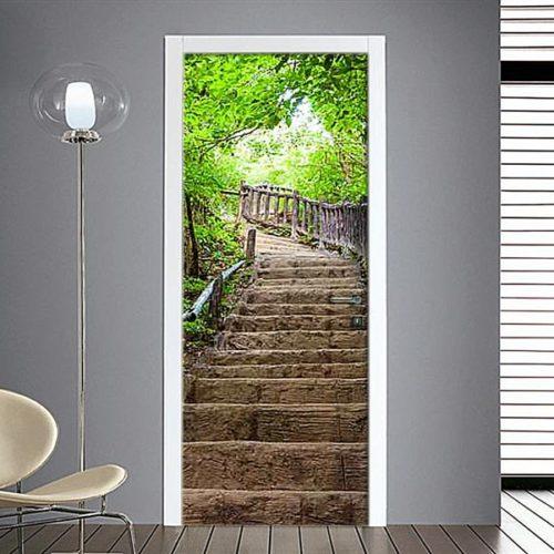 Adesivi per porte sentiero nel bosco for Specchi adesivi per porte