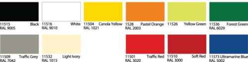 Stickers adesivi: colori disponibili