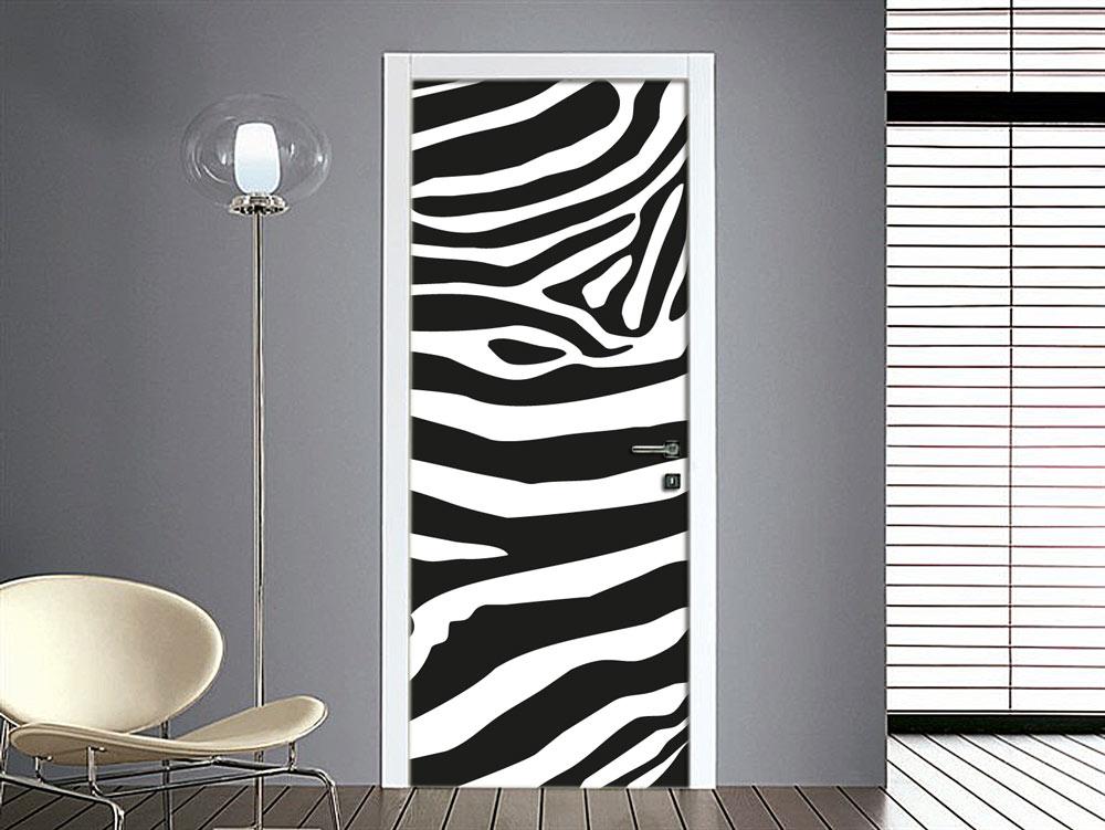 Adesivo zebrato per porte interne