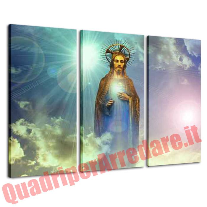quadro Padre Celeste devozione grandi dimensioni 3 pezzi religioso