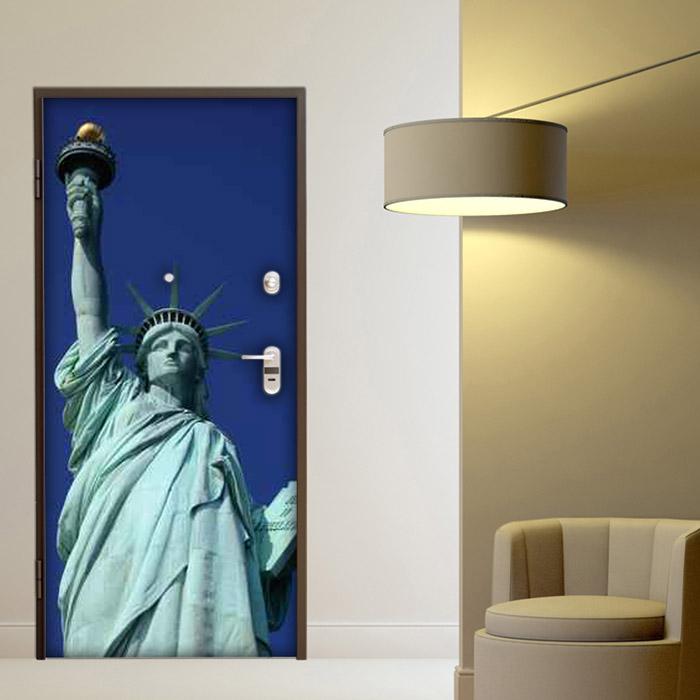 adesivo porta statua new york sticker decorazione
