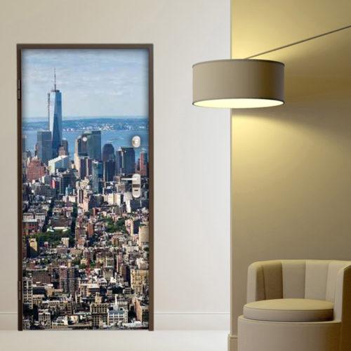Adesivo porta New York skyline