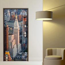 adesivo porta new york grattacielo prima strada sticker