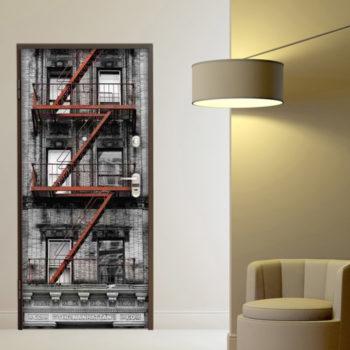 adesivo porta new york scale antincendio palazzo
